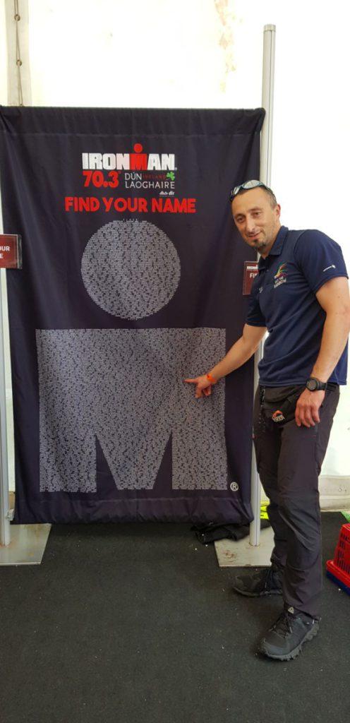 Slawek from TriathlonNITeam at IM 70.3 Dun Laoghaire 2018