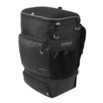 Transition Backpack-EVA Cycle Helmet Compartment -Black_Grey-Angled